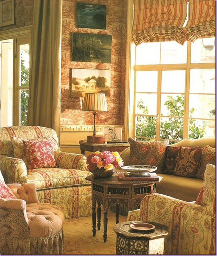 beautiful mix of fabrics lynn von kersting romantic style rh pinterest com  cozy cottage fabrics and alterations augusta maine