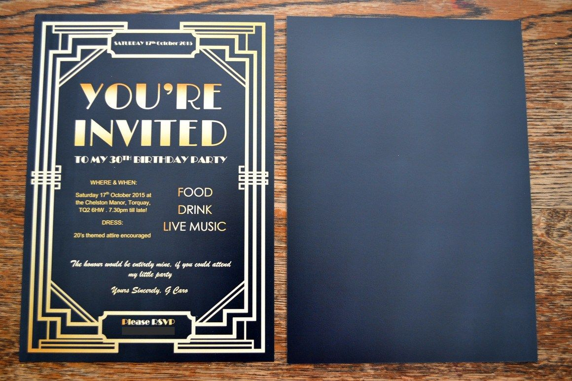 Gatsby Party Invites - Stress Free Print   40th party   Pinterest ...