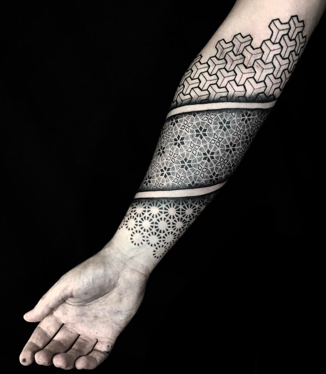 No Photo Description Available Geometric Sleeve Tattoo Tattoos For Guys Geometric Tattoo Pattern
