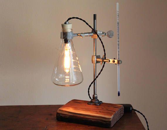 Industrial Desk Lamp Steampunk Chemistry Laboratory Science Desk Lamp Industrial Desk Lamp Lamp