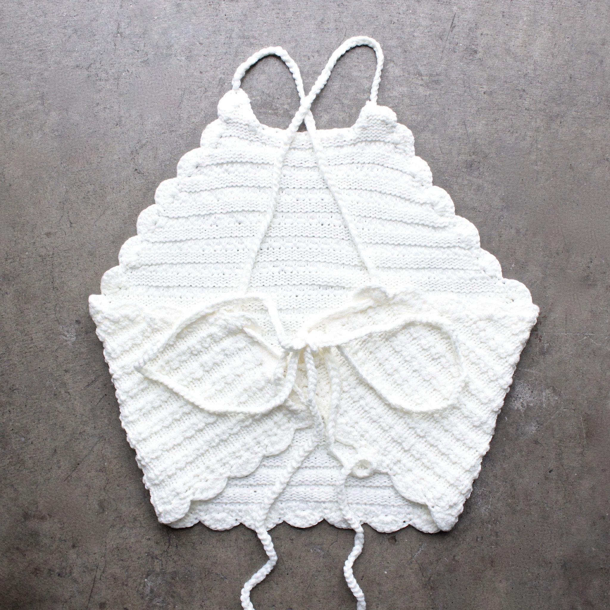 festival shop - crochet halter crop top | Bordados tejidod ...