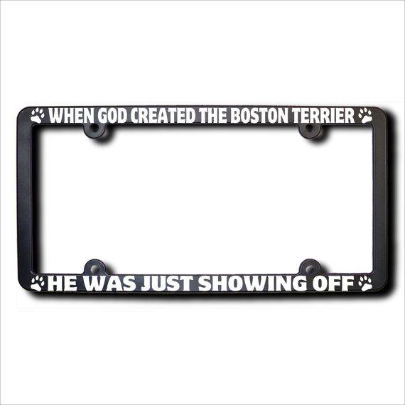 When God Created The BOSTON TERRIER License by JamesReidDesign