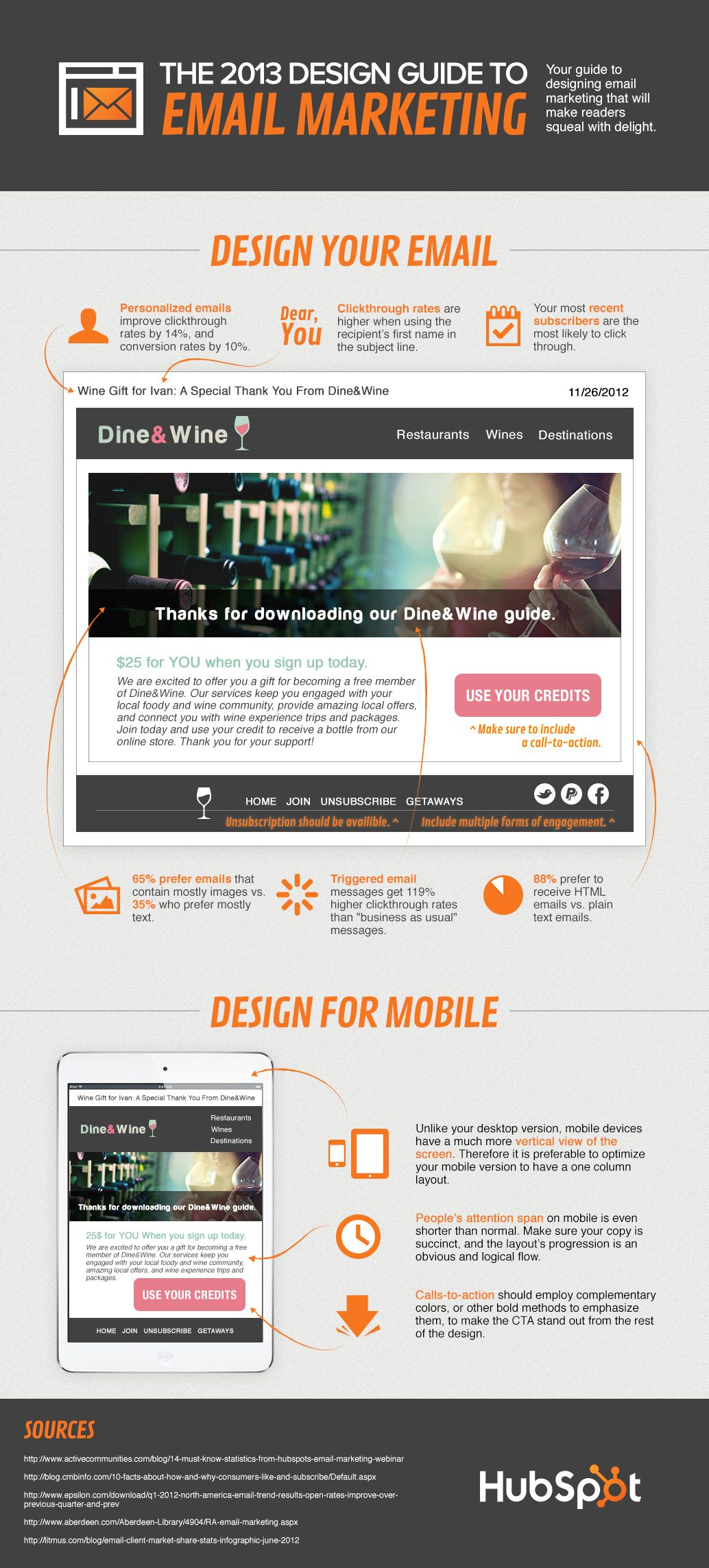 Email Marketing Design Guide For 2013 [Infographic]   e