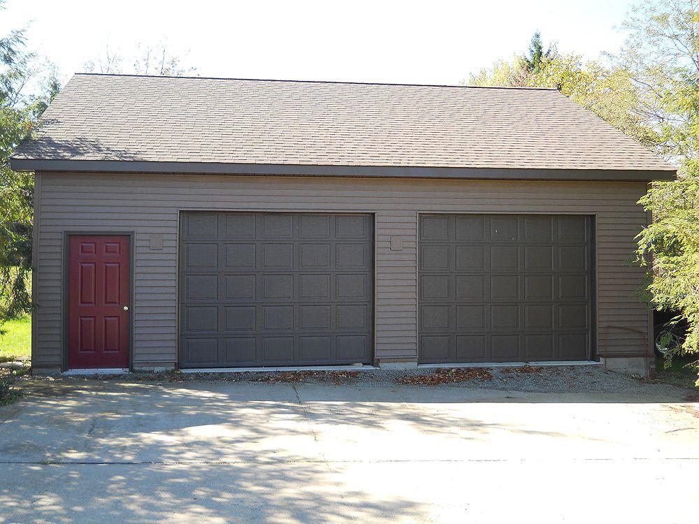 2 Car Garage Front View A Pole Building Garage Pole Barn Garage Barn Garage