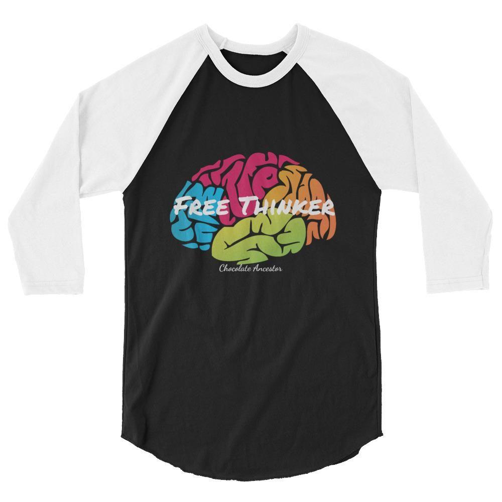433655791 Free Thinker 3/4 sleeve raglan unisex shirt #blacklove #fashion  #blackbusinessowner #