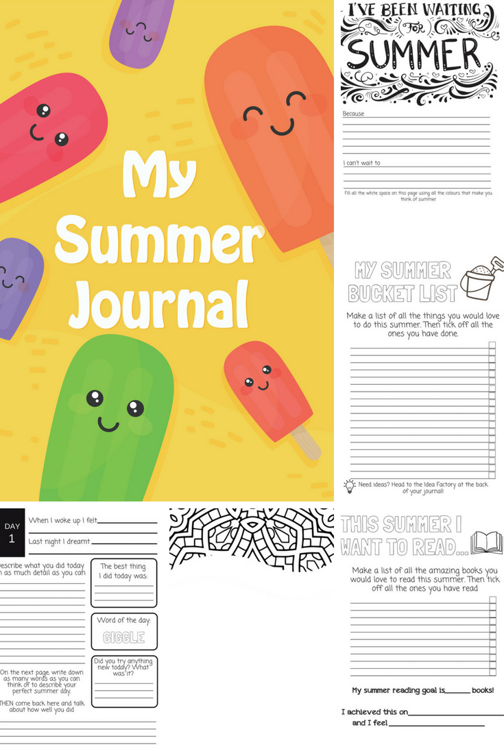 The Six-Week Summer Holiday Journal For Kids | Elementary School