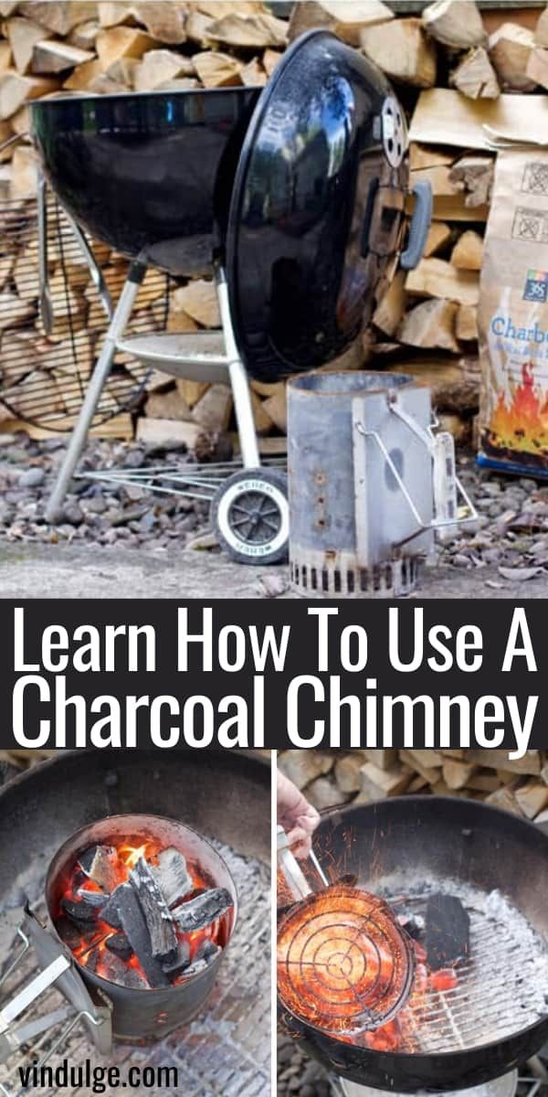 How To Use A Charcoal Chimney Starter Vindulge In 2020 Charcoal Chimneys Charcoal Charcoal Grill