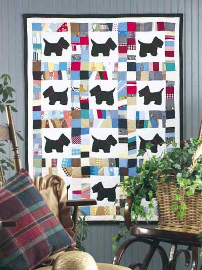 aww to cute i think my daughter would like this Scottie Dog Scrap ... : cute baby quilts - Adamdwight.com