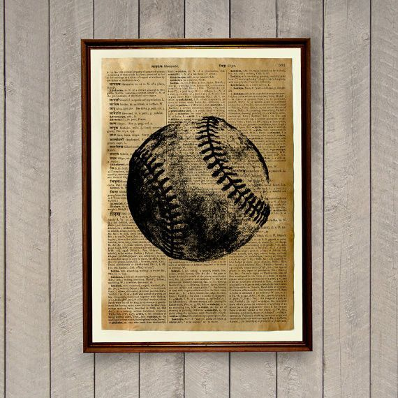 Vintage Baseball Wall Decor | Baseball | Pinterest | Baseball wall ...