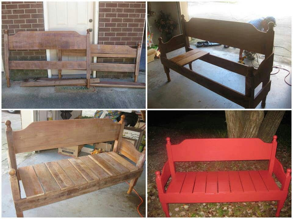 Superb Amazing Bench Seat From Old Bed Frame Repurposing Caraccident5 Cool Chair Designs And Ideas Caraccident5Info