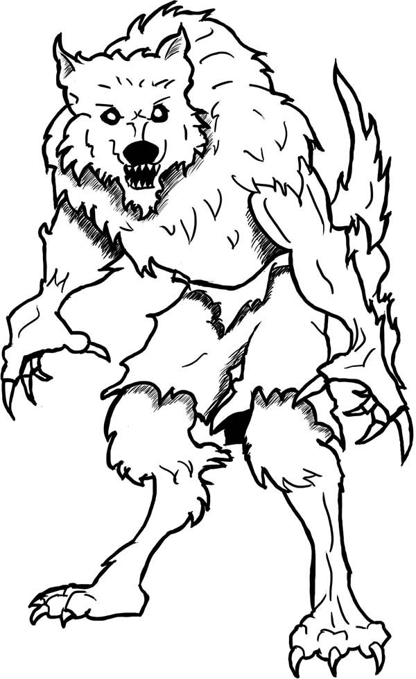 Monster Werewolf Coloring Page Coloring Sun Monster Coloring Pages Halloween Coloring Pages Halloween Coloring Sheets