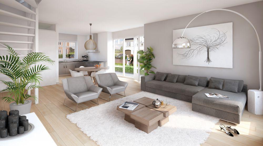 Complete huiskamer inrichting moderne koloniale woonkamer interieur inrichting - Interieur inrichting moderne woonkamer ...