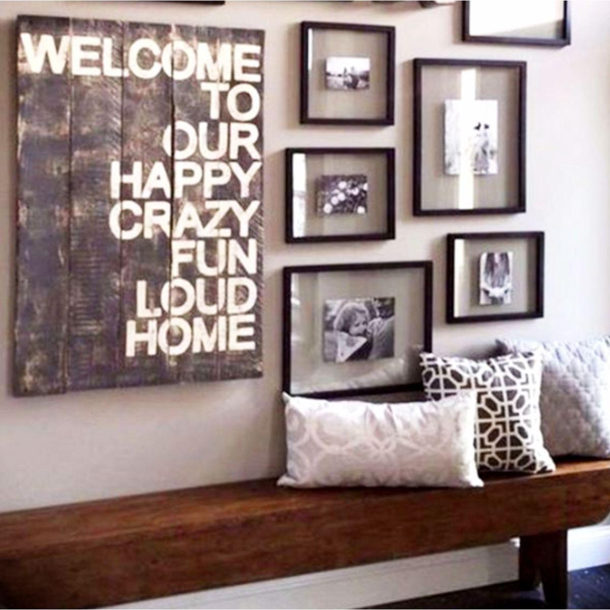 Foyer Accent Wall Ideas Home Decor Diy Gallery Wall Decor