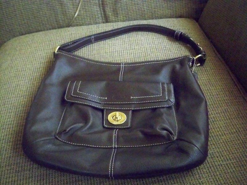 COACH PENELOPE BROWN PEBBLED LEATHER CROSSBODY/SHOULDER BAG