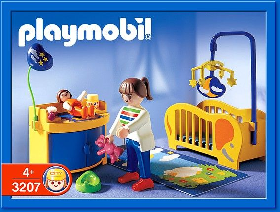 Playmobil set 3207 baby room playmobil pinterest for Chambre playmobil