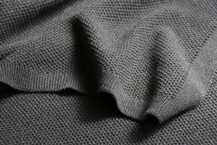 Knitting Pattern Queen Size Blanket : Moss stitch cotton blanket in Queen/King size by Bemboka - charcoal For the...