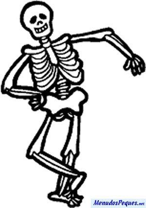 Los Esqueletos Halloween Para Colorear Esqueletos Halloween Paginas Para Colorear Para Ninos