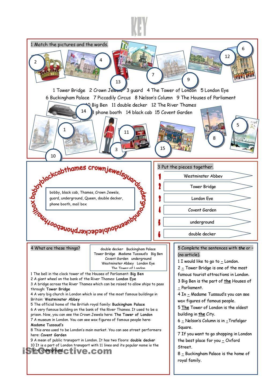 Workbooks vocabulary building worksheets high school : London Tour Vocabulary Exercises | English | Pinterest ...