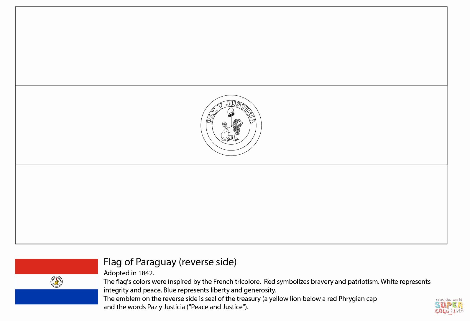 Uruguay Flag Coloring Page Luxury Paraguay Flag Reverse Side Coloring Page Uruguay Flag Flag Coloring Pages Coloring Pages