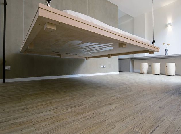 AuBergewohnlich Space Saving Bed Raises Become Ceiling Art Renato Arrigo 2