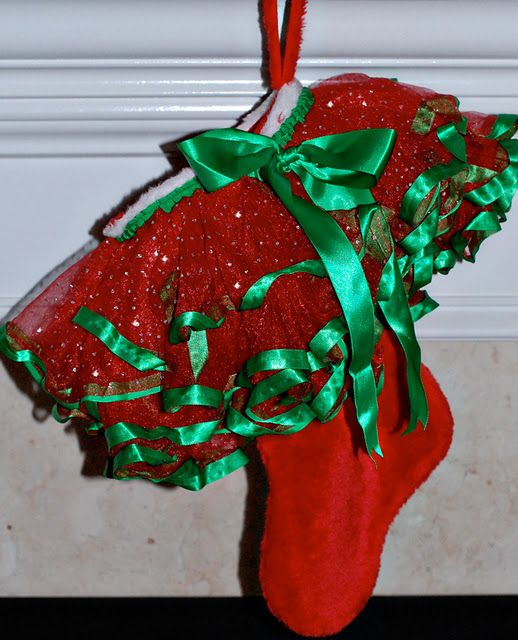 Christmas Stocking Craft Ideas Part - 49: Tutu Christmas Stocking