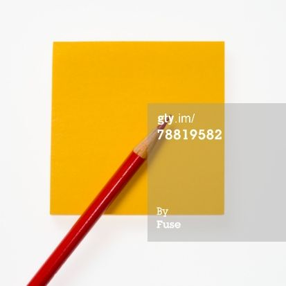 Red Pencil And Yellow Sticky Notepaper Royalty-free Image | Getty Images | 78819582