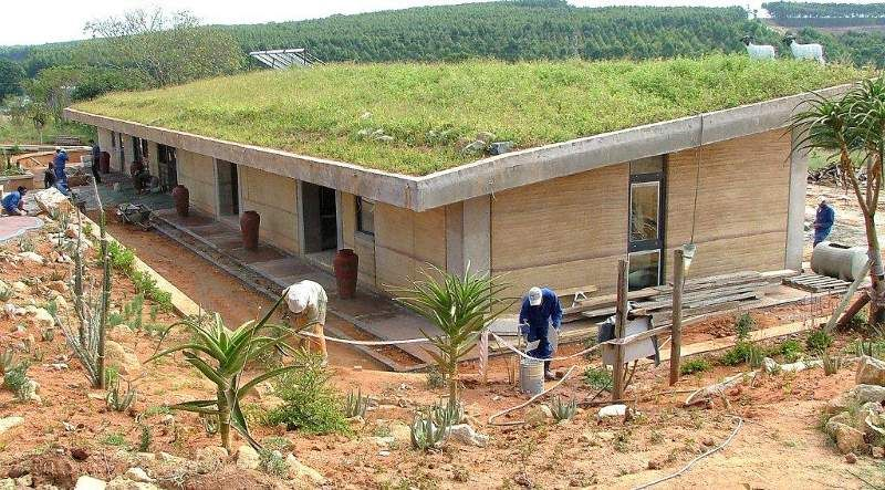 Earth Roof Google Search Rammed Earth Homes Earth Roof Rammed Earth