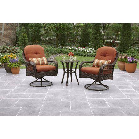 Green Or Orange 3 Piece Bistro Rust Resistant Patio Furniture Outdoor Set