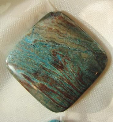 Imperial Turquoise Diamond Pendant Bead 40x40mm  $4.99 free shipping