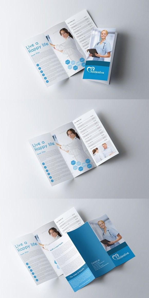 Medical Trifold Brochure Template Brochure Templates Pinterest