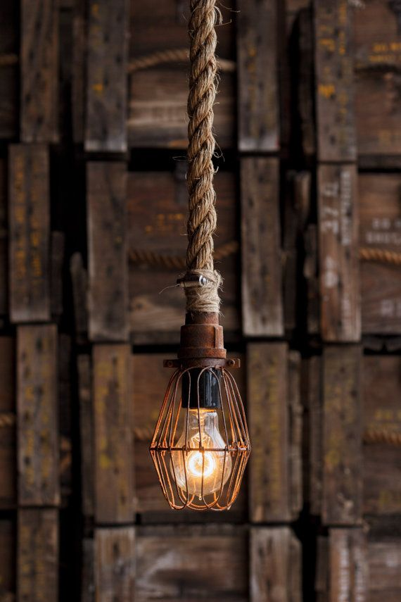 industrial pendant lighting modern the miners pendant light industrial rope by moonstonefox