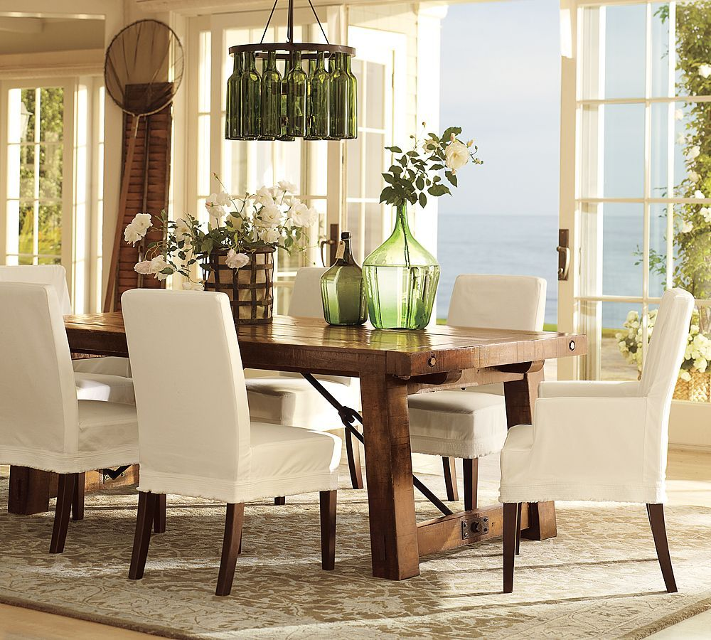 Pottery Barn Rooms Decorate  Dining Chair And Square Tapered Awesome Dining Room Pottery Barn Review