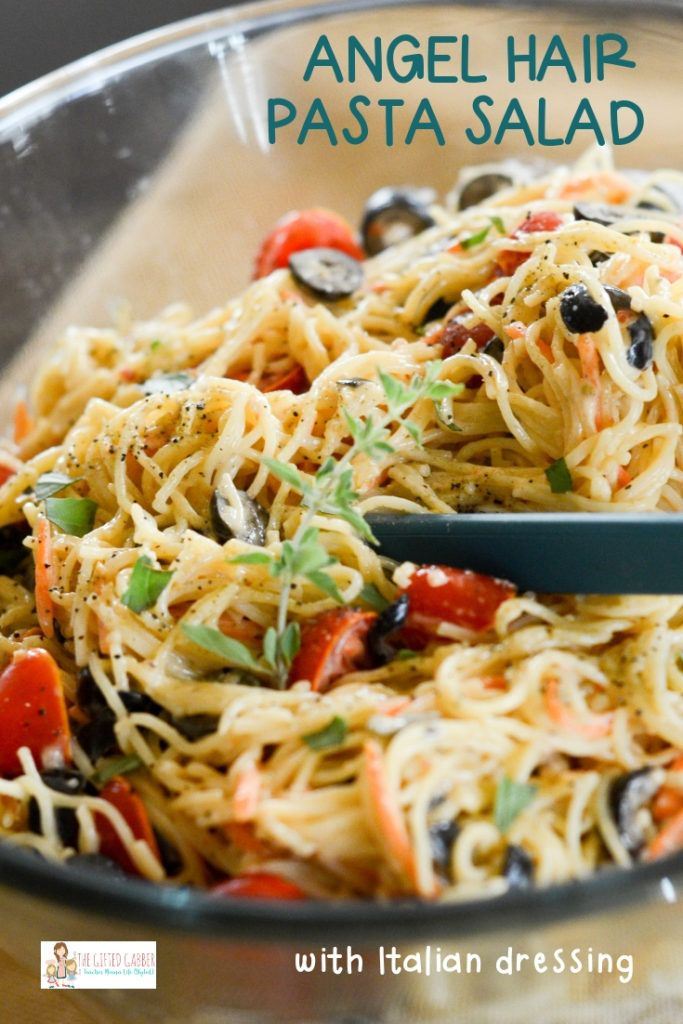 Photo of Angel Hair Pasta Salad Recipe – Easy Pasta Salad – The Gifted Gabber