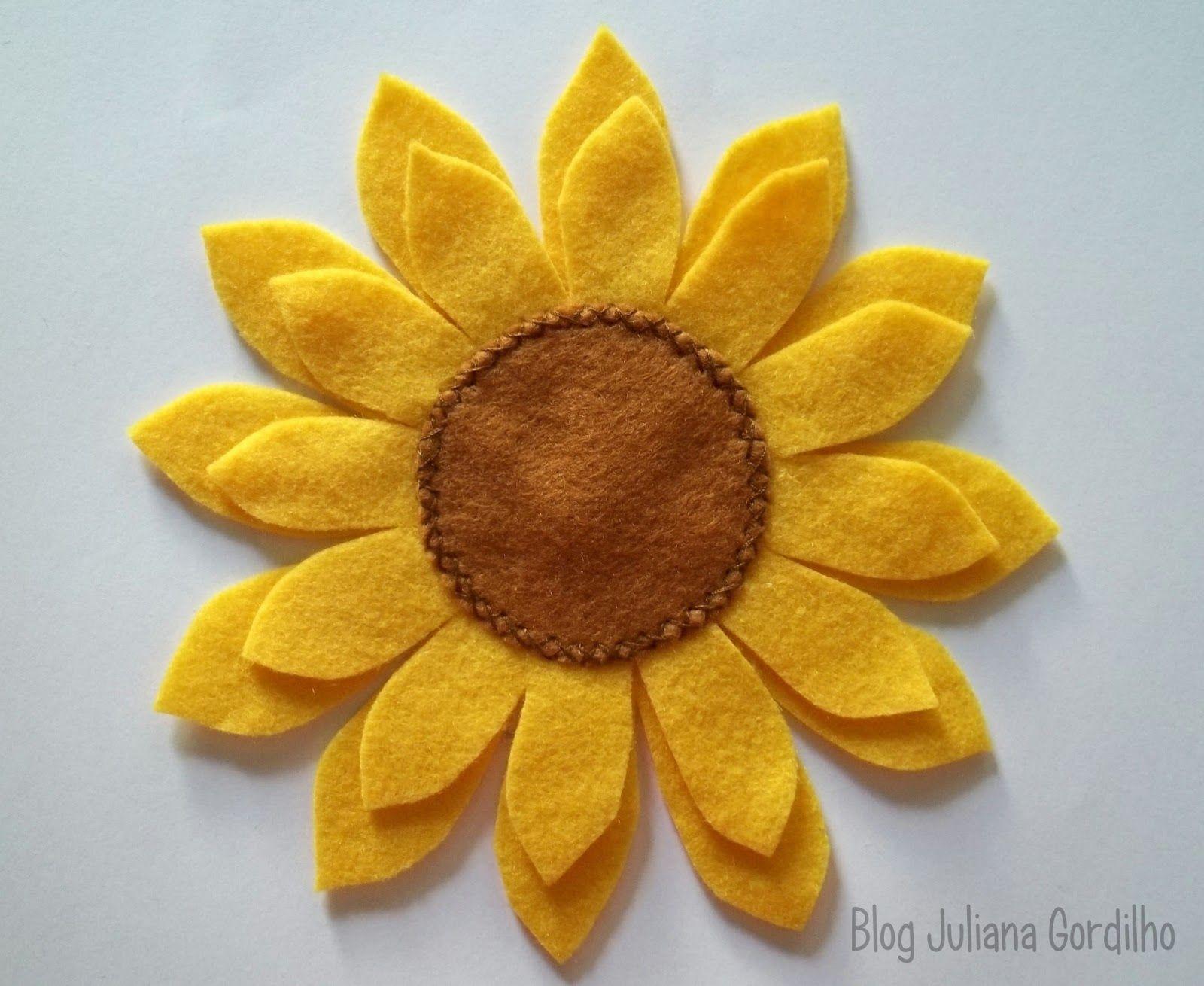 Adesivo De Borboleta Para Geladeira ~ girassol feltro Pesquisa Google art Pinterest Girassol, Google e Flor feltro