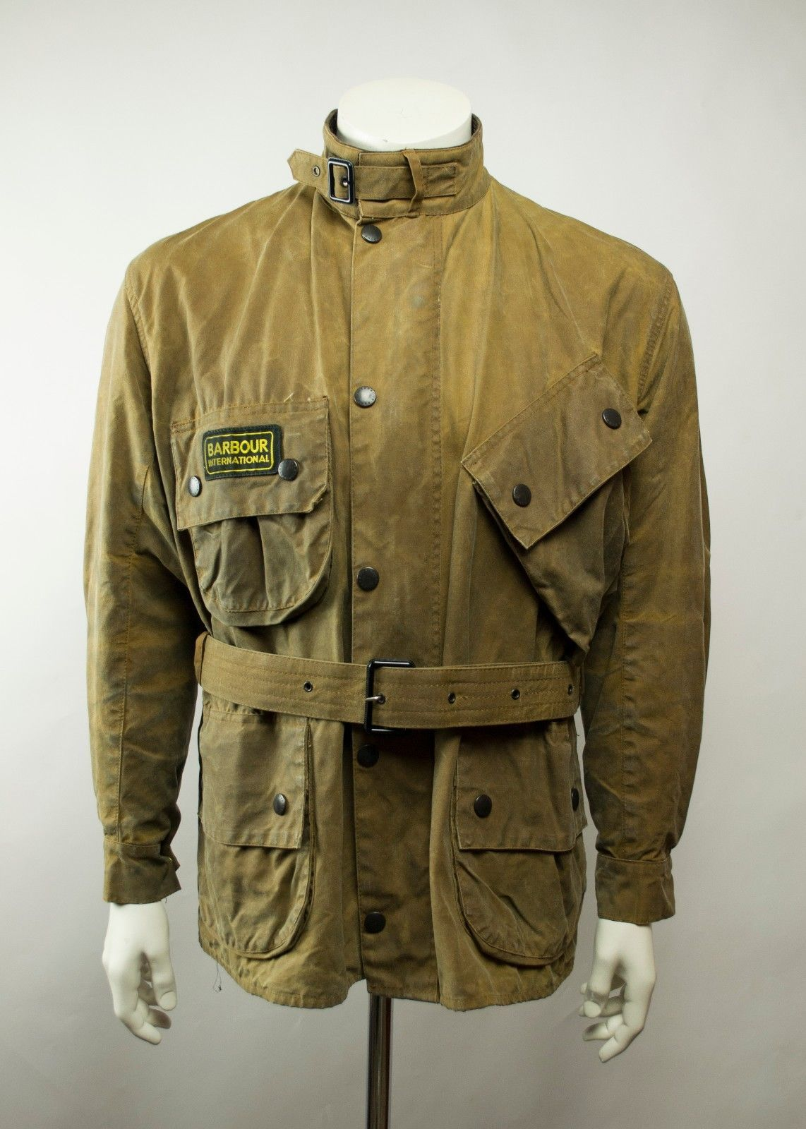0ffe03ebe Rare Barbour A10 International Waxed Motorcycle Jacket Size C44 / 112CM |  eBay