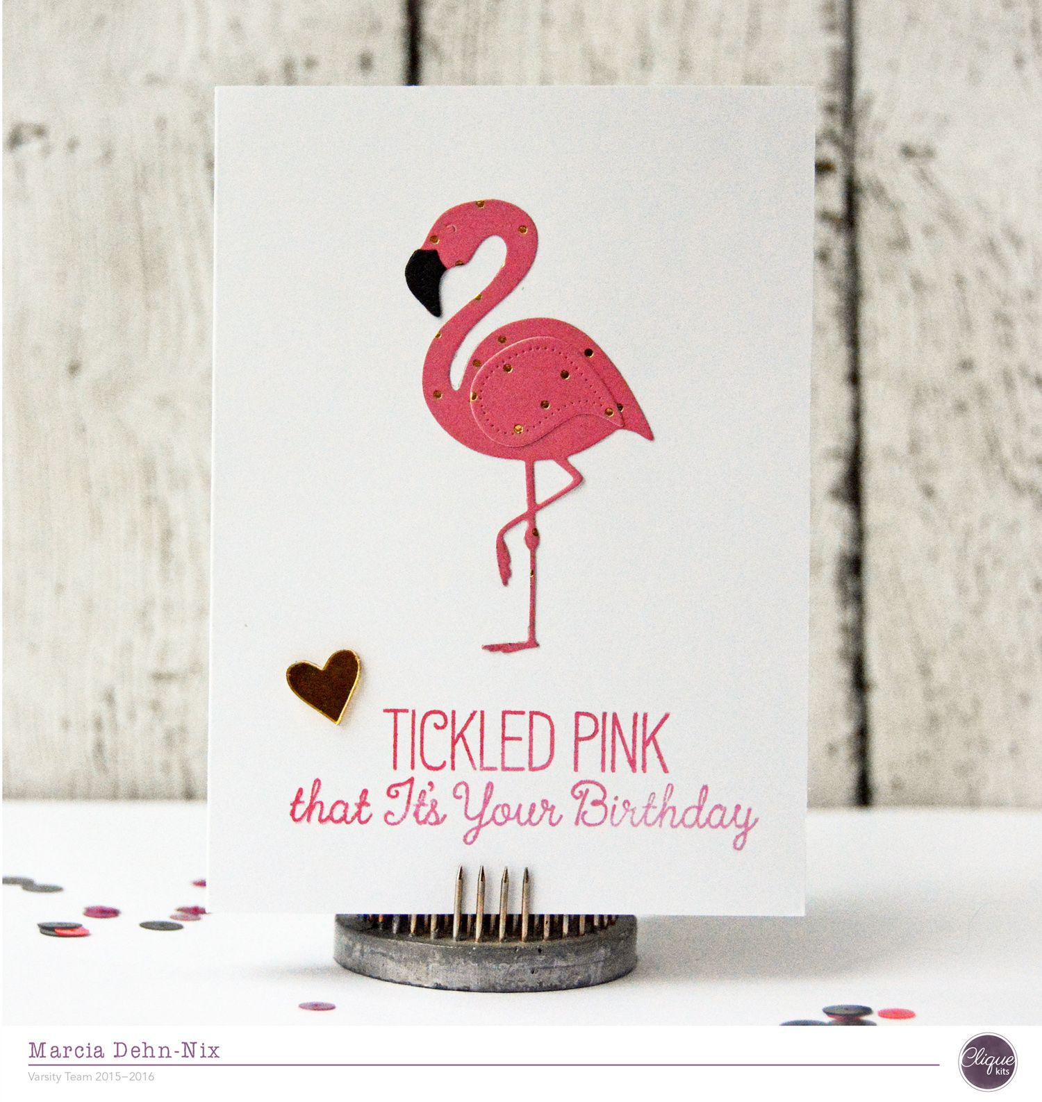 Tickled Pink card created with My Mind s Eye Trend 2 My