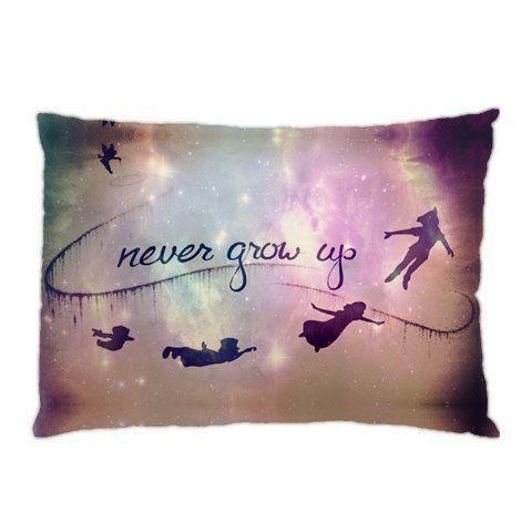 Peter Pan Quotes Never Grow Up Pillow Case Cover Custom Design