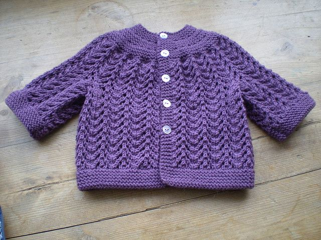 Knitting Patterns For Sweaters On Circular Needles : Baby Sweater on Two Needles (February) by Elizabeth ...