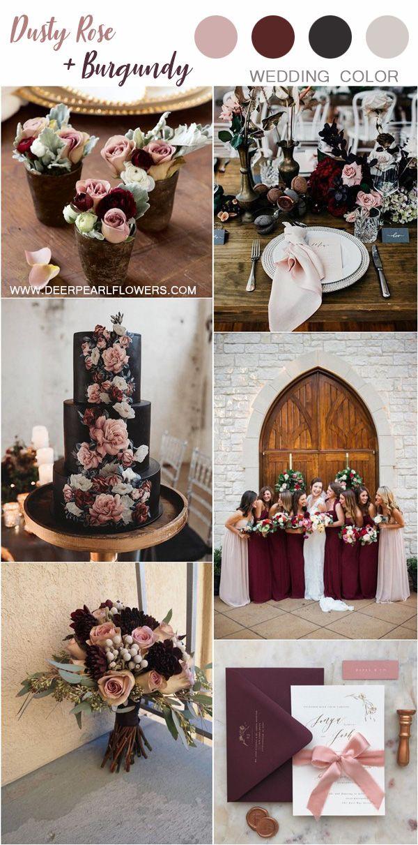Dusty Rose Burgundy And Dark Grey Vintage Wedding Color Ideas Weddings Wed Dusty Rose Wedding Colors Wedding Color Palette Inspiration Vintage Wedding Colors