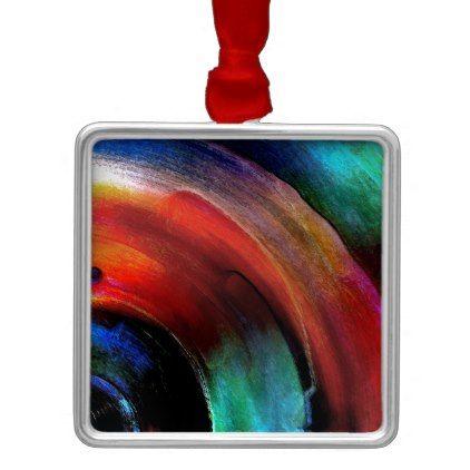 #stripes - #Quarter Round Colors Metal Ornament