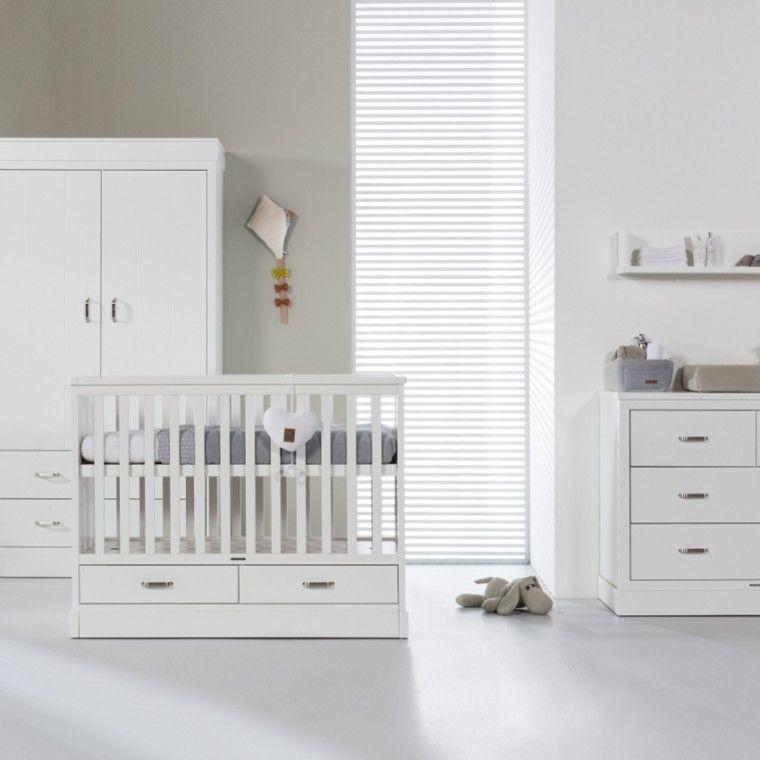 Babykamer Bateau Wit.Kidsmill Newport Babykamer Wit Bed 60 X 120 Cm Commode Kast 2