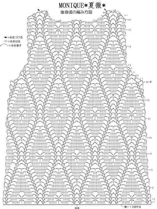 Crochet summer top graph | Tejidos | Pinterest | Blusas, Tejido y ...