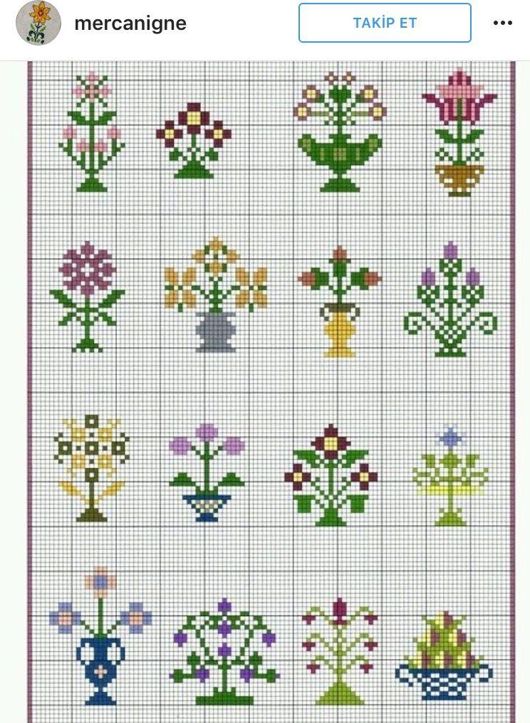 Pin de Maria Granero en Cuadro X | Pinterest | Punto de cruz flores ...