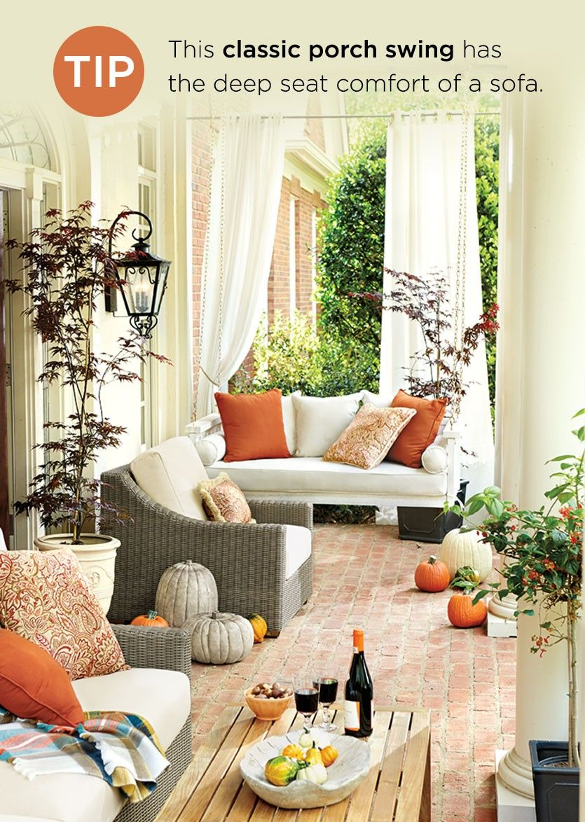 tips from our fall catalog summer porch porch swings and catalog