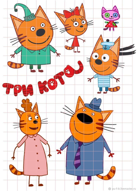 """Три кота"" из фетра - 4 варианта – купить на Ярмарке ..."
