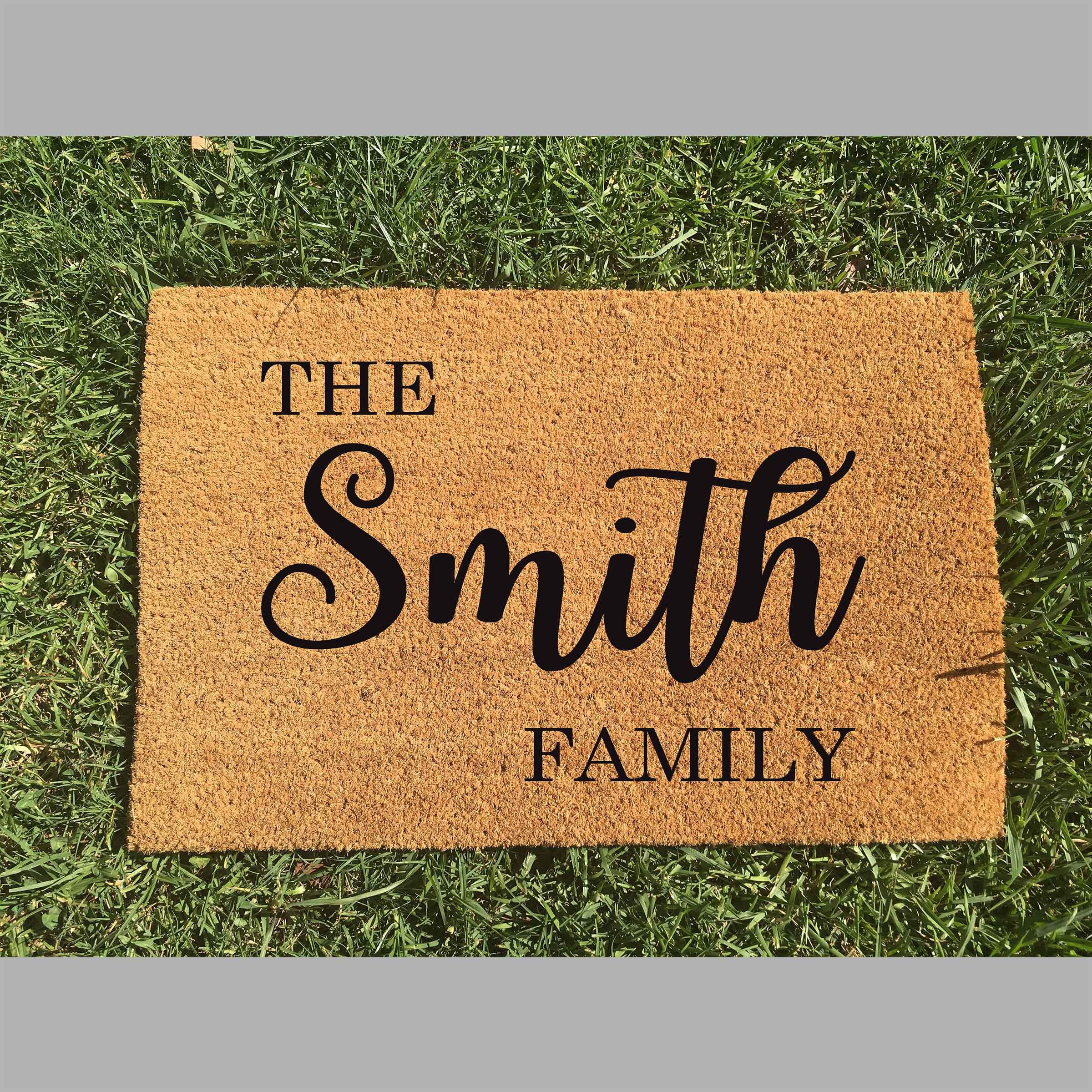 Personalised Door Mat So Many Other Styles To Choose From Too Personalized Door Mats Door Mat Door Mat Diy