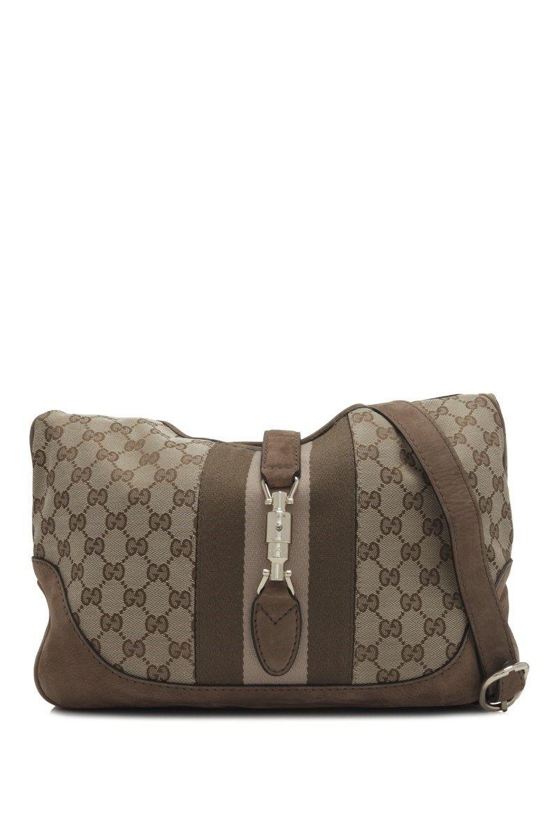 Gucci Pre Owned Gucci Gg Canvas Shoulder Bag With Images Canvas Shoulder Bag Bags Shoulder Bag
