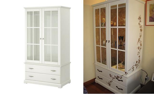 Tuneo armario para ropa, convertido en vitrina cristalera, guardar vajilla, showcase.