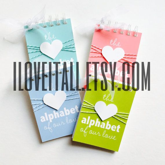 Alphabet of Our Love  Personalized Gift  Love Letters  What I