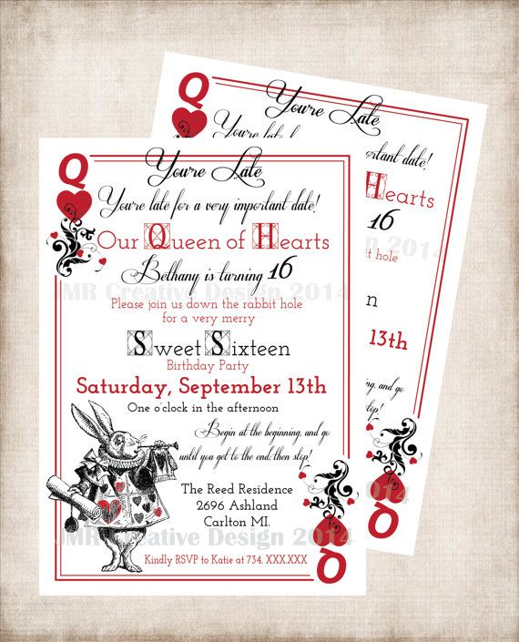 Alice In Wonderland Birthday Sweet 16